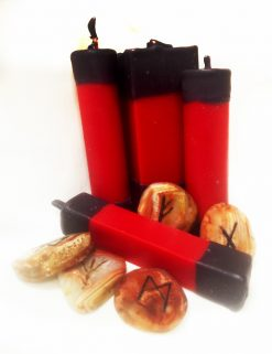 Свечи для рунических ритуалов, квадратные, патронные
